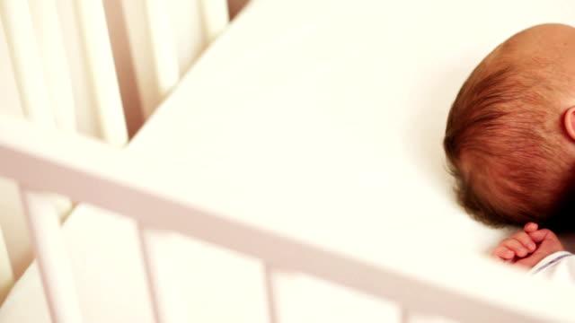 sleeping newborn baby - only baby girls stock videos & royalty-free footage