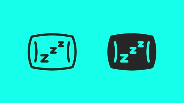 sleeping pillow icons - vector animate - nun stock videos & royalty-free footage