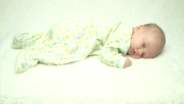 sleepy newborn - soft blanket stock videos and b-roll footage