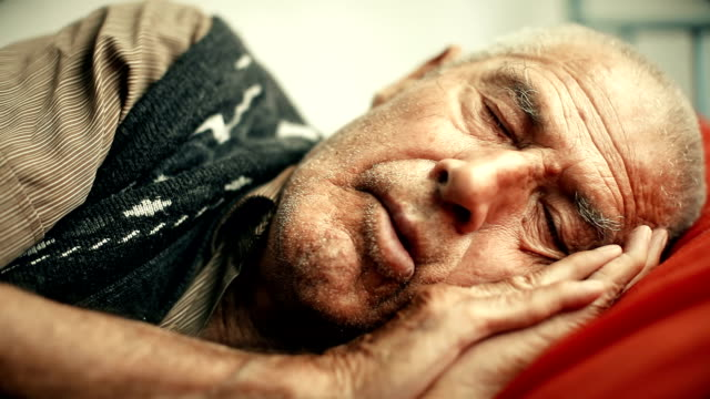 sleepy old man - napping stock videos & royalty-free footage