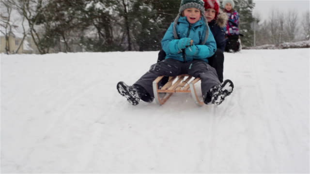 sleighing down the hill