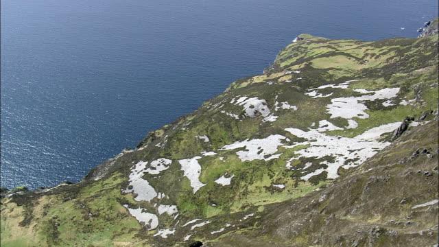 sleive リーグ崖-航空写真-アルスター、ドニゴール、アイルランド - アルスター州点の映像素材/bロール