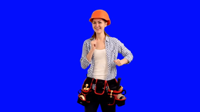 slender young woman construction worker dancing - building contractor stock videos & royalty-free footage