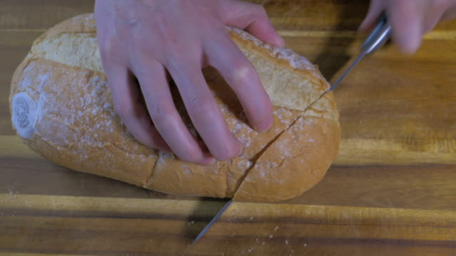slice home made white bread - white bread stock videos and b-roll footage