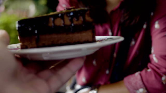 POV : A slice of chocolate cake