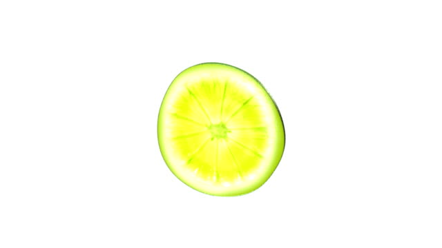 a slice of lime rotates against a white background; a white oval rotates against a black background. - lime stock videos & royalty-free footage