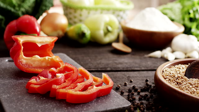 sliced pepper - ascorbic acid stock videos & royalty-free footage