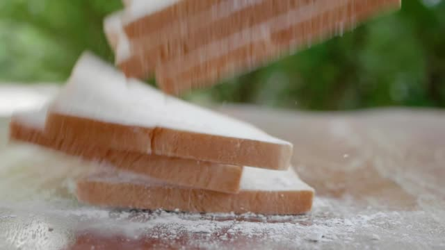 slices bread - white bread stock videos and b-roll footage