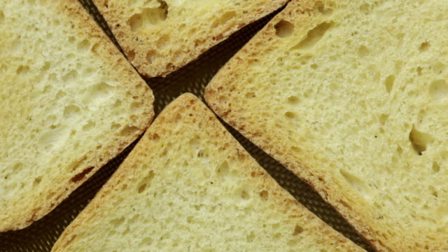 Slices of bread toast