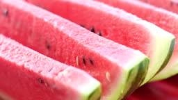 Slices of juicy watermelon