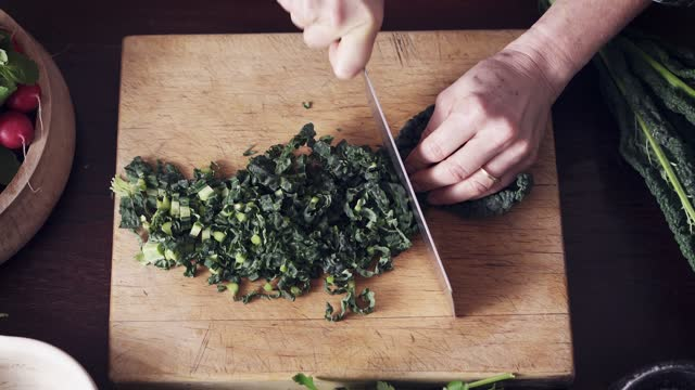 slicing cavolo nero finely - beta carotene stock videos & royalty-free footage