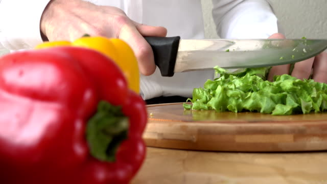 slicing lettuce - butter lettuce stock videos & royalty-free footage