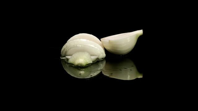 slicing of onion - sideways glance stock videos & royalty-free footage