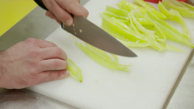 slicing pepper very thin - raw food diet stock videos & royalty-free footage