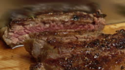 Slicing Seared Ribeye Steak