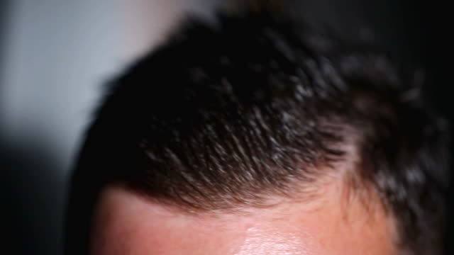 slicked back hair - human hair stock videos & royalty-free footage