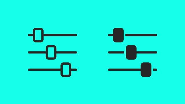 スライド ボタン アイコン - ベクトル アニメーション - 整える点の映像素材/bロール