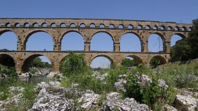 Slider shot of Pont du Gard
