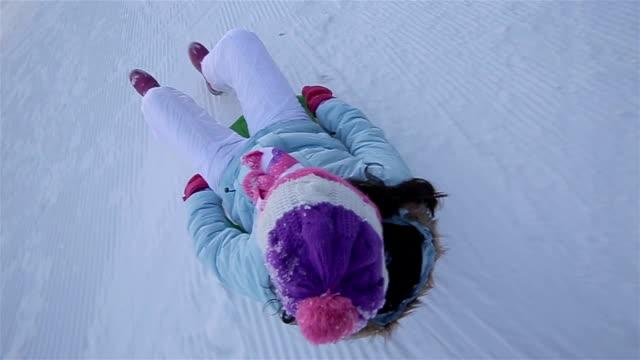 Sliding on snow,camera stabilization shoot