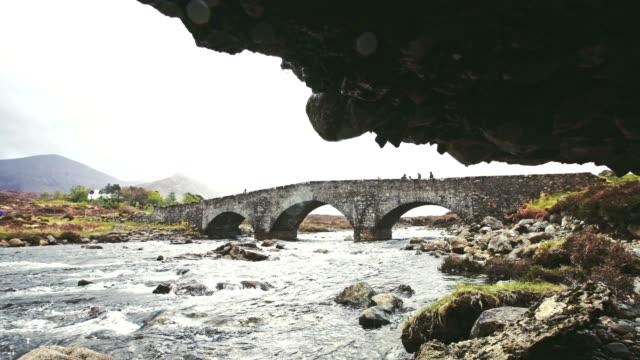 sligachan bridge - isle of skye - stream stock videos & royalty-free footage