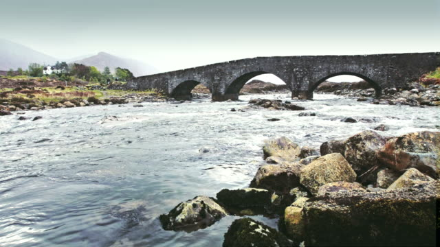 sligachan bridge - isle of skye - river stock videos & royalty-free footage