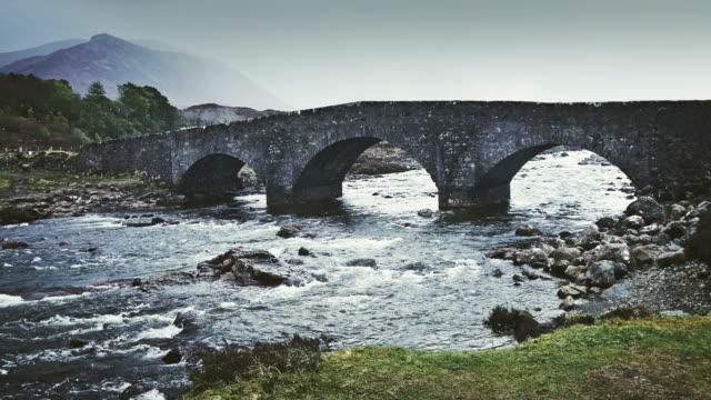 sligachan bridge - isle of skye - named wilderness area stock videos & royalty-free footage