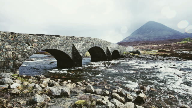 sligachan bridge - isle of skye - scottish culture video stock e b–roll