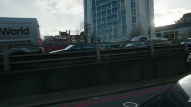 slightly angled back left side process london streets - moving process plate stock videos & royalty-free footage