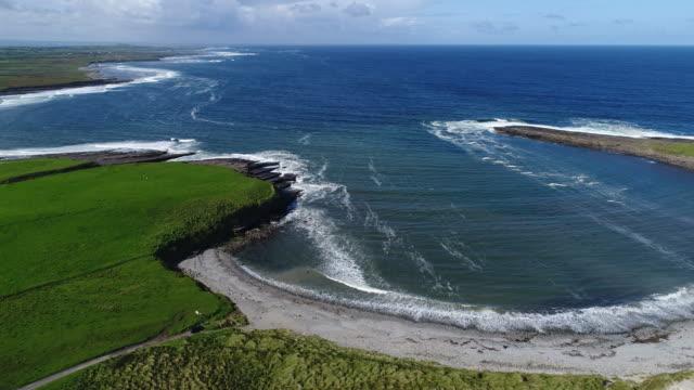 Sligo, Ireland - Aerial view of Irish coastline