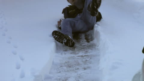 slip and fall (hd) - slippery stock videos & royalty-free footage