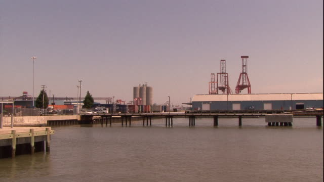 a slip extends from a pier at newport, virginia. - nightdress stock videos & royalty-free footage