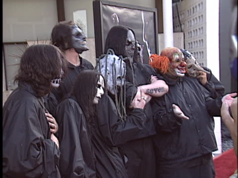 slipknot at the freddy vs jason premiere at cinerama dome hollywood in hollywood ca - cinerama dome hollywood stock videos & royalty-free footage