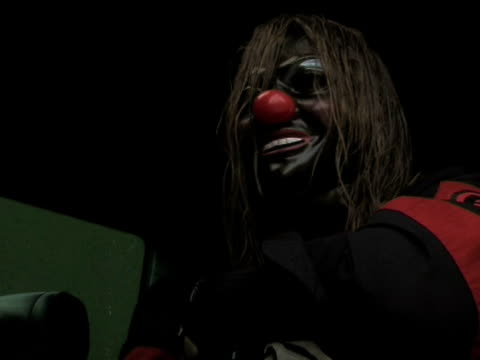 slipknot 'clown' on how download will be their biggest show at the download festival 2009 at derby england. - biggest stock videos & royalty-free footage