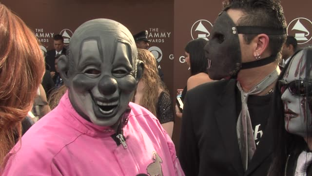 Slipknot nominee Best Metal Performance for Before I Forget at the 2006 Grammy Awards arrivals at the Staples Center in Los Angeles California on...