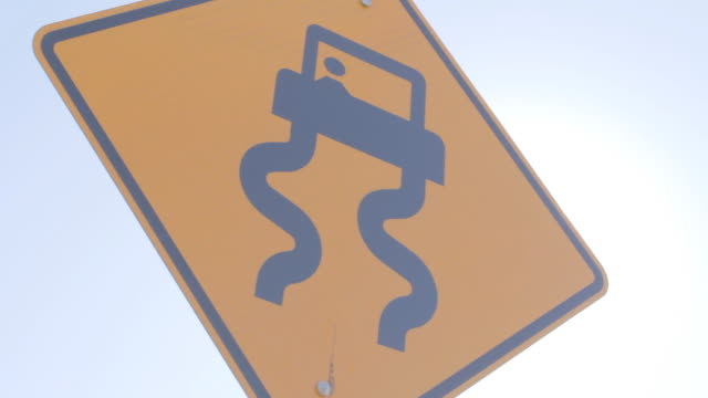 slippery when wet traffic sign 2 - wet wet wet stock videos & royalty-free footage