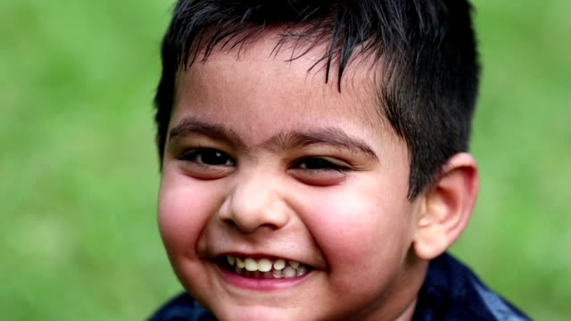 slo mo, laughing portrait of little boy - video portrait stock videos & royalty-free footage