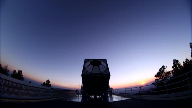 sloane telescope in new mexico, usa - new mexico stock-videos und b-roll-filmmaterial