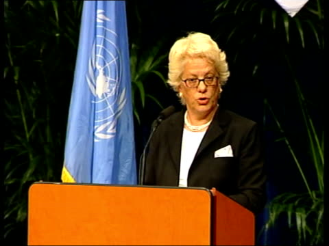 slobodan milosevic held for crimes against humanity pool un war crimes tribunal court carla del ponte press conference sot this morning an amendment... - ponte stock videos & royalty-free footage