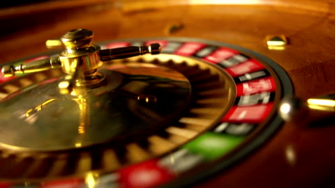 slo-mo casino roulette - gambling stock videos & royalty-free footage