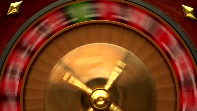 slo-mo casino top - roulette stock videos and b-roll footage