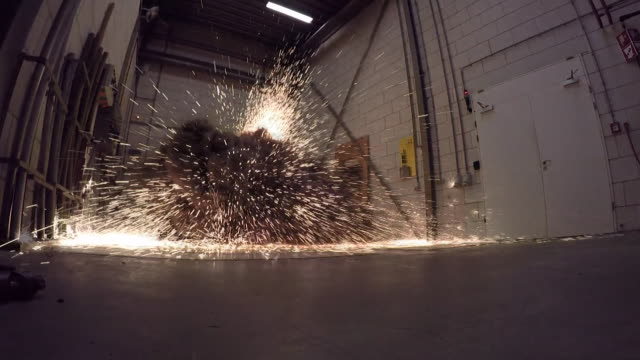 slomo of controlled explosion in laboratory that shows the destructive power of an electrical short circuit - exploding stock videos & royalty-free footage