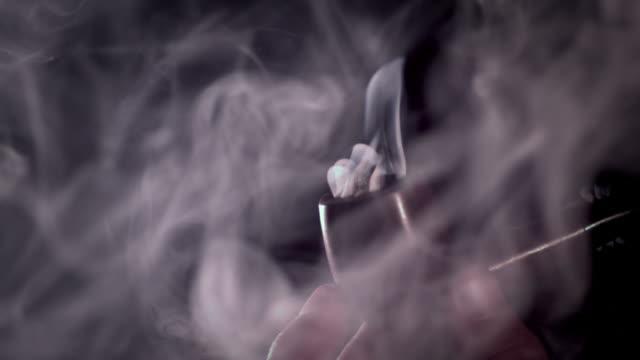 slomo pipe smoking - pipe stock videos & royalty-free footage