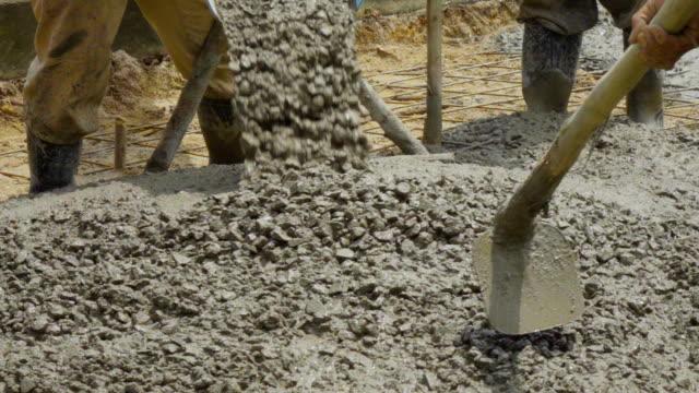 Slomo Spreading Concrete.