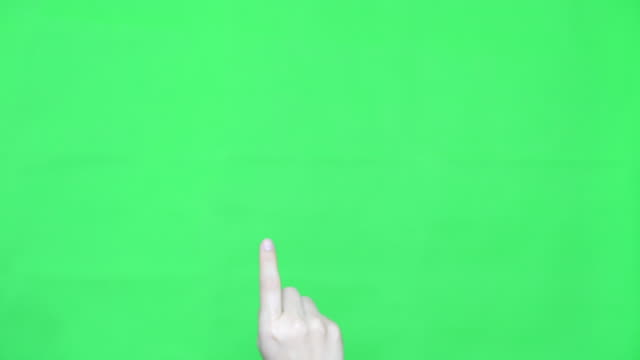SLO-MO:Drag Up,Hand with Green screen