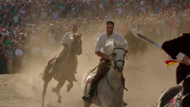 "slomos riders take part in the ardia, sardinia - ""bbc universal"" video stock e b–roll"