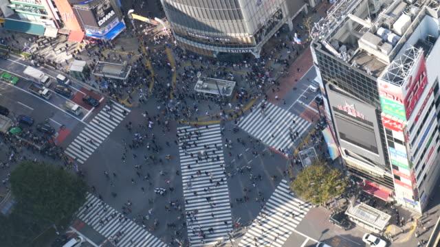 vídeos y material grabado en eventos de stock de calle slo-motion crossing - cruce de shibuya