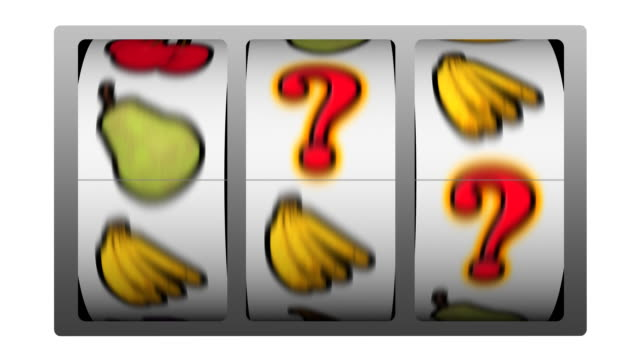 slot machine - question mark winner - punctuation mark stock videos & royalty-free footage