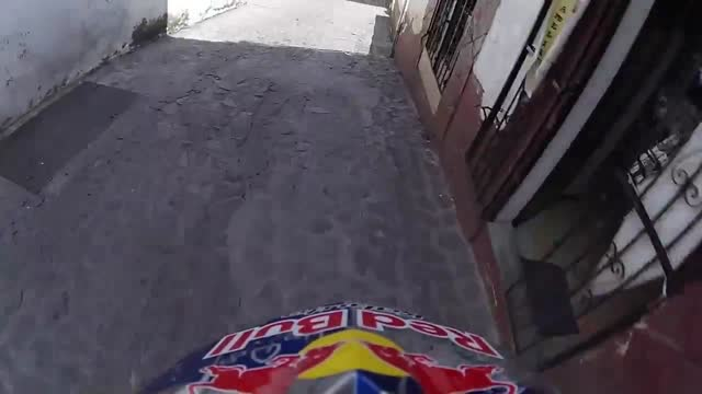 slovak mountain biker filip polc attached a gopro camera to his helmet for his cycle in mexico's taxco urban downhill race. with it he captured a... - mountain biking stock videos & royalty-free footage