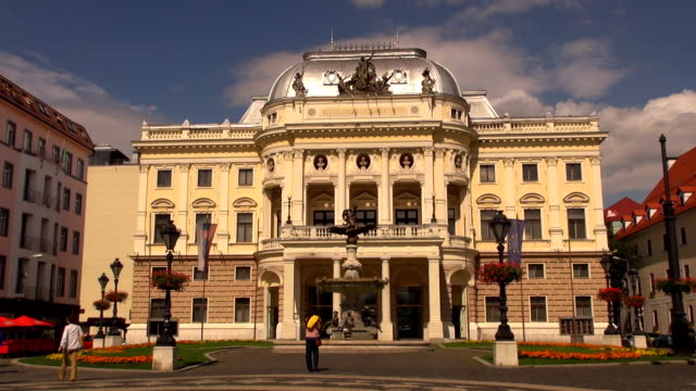slovak national theatre - bratislava, slovakia - eastern european culture stock videos & royalty-free footage