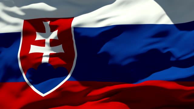 stockvideo's en b-roll-footage met slovakian flag - alle vlaggen van europa
